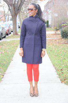 Reiss coat - princess line + kimono sleeve