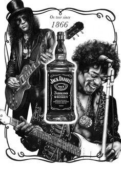 On tour since 1866 by Jamie Bradford Jack Daniels Bourbon, Jack Daniels Cocktails, Jack Daniels Logo, Jack Daniels Bottle, Bourbon Whiskey, Jack Daniels Wallpaper, Iron Maiden, Ramones, Pink Floyd