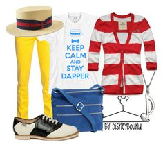 """Dapper Dans"" by leslieakay ❤ liked on Polyvore featuring Dsquared2, Disney, Max & Chloe, Hollister Co., Kipling, Bass and disney"