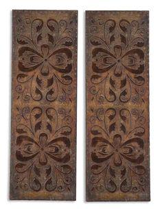 Uttermost 13643 Alexia Panels S/2 Metal Wall Art