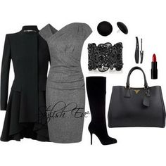 Winter 2013 Outfits For Women By - Clean Crisp Elegant Black Outfit. Winter-2013-outfits-for-women-by-stylish-eve25