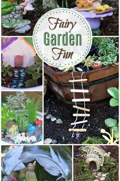 Fairy garden fun Summer Camp Crafts, Camping Crafts, Flower Video, Summer Landscape, Inspiration For Kids, Garden Ideas, Garden Fun, Veg Garden, Raised Beds