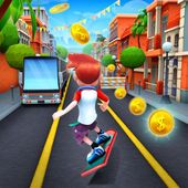 Bus Rush APK Action run    The description of Bus Rush  Bus Rush is an amazing running game for Android. Run along the craziest scenarios in the Bus Rush City. Drag to jump or slide and to move left or right. Avoid hitting trucks buses and subway trains. Run around the Bus Rush city subway forest and beach and gather all the coins you can. In this exciting runner game you can choose among 10 different characters to play with. Surf the Bus Rush city with Roy Zoey Darryl Katie or any of your…
