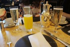 Champagne breakfast with friends at The Wolseley in London. Photo credit: Not Just Another Milla The Wolseley, Champagne Breakfast, Photo Credit, London, Table Decorations, Friends, Amigos, Boyfriends, London England