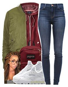 """12.01.15"" by jadeessxo ❤ liked on Polyvore featuring American Eagle Outfitters, Topshop, JanSport, NIKE and J Brand"