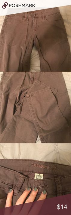 Brown Cotton Jeans Brown cotton jeans - super soft. Cuffs are in perfect condition 12345678 Jeans Skinny