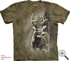 This Lone Buck T-Shirt features bold, realistic whitetail deer artwork by The Mountain Hunting Tattoos, Steampunk, American Animals, Browns Gifts, Thing 1, Mountain Man, Lonely, Screen Printing, Classic T Shirts