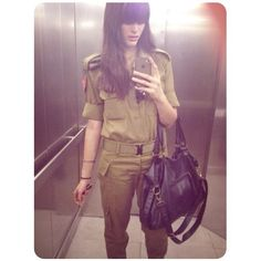 Israel army chic and stylish!