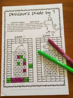 FREEBIE - Division Freebie NO PREP Games - Print and Play games for division within 100.
