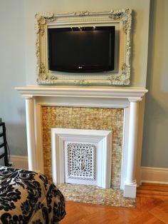 Great idea for framing flat screen tv.