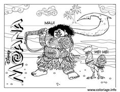 Maui And Hei Coloring Pages Printable Book To Print For Free Find More Online Kids Adults Of