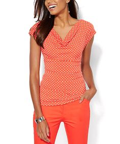 Look at this Red Dot Leena Drape Tee on #zulily today!