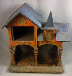 Antique Wood & Litho Toy Stable Bliss? Gottschalck?