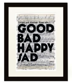 Loving You Whether Times Are Good Or Bad - Al Green Typography Poster ... Lyrics/Love - A3 / 16.5 x 11.7 inches. £10.50, via Etsy.