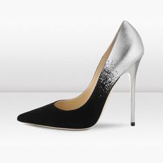 466ac29156f6 Silver and Gold Glitter Shoes Stiletto Heel Evening Wedding Pumps for Party