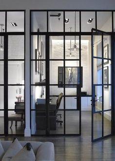 Interior glass doors. South Shore Decorating Blog