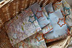 Polly kreativ: Kleine Tüte aus einem Atlas - Maps