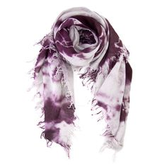 Potent Purple Combo Cashmere and Silk Dip Dyed Scarf by Chan Luu.  Once you have one, you keep coming back for more.  Soft, flowy, it's just the perfect scarf for everyday.