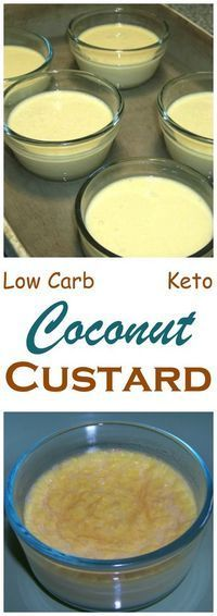 A coconut custard perfect for those who crave sweets during the weight loss phase of a low carb diet. With only 2g carbs, eating it won't stall weight loss. Keto Banting THM