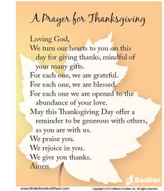 Thanksgiving Grace | ... thanksgiving and gratitude with A Prayer for Thanksgiving prayer cards