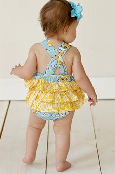 Jelly the Pug - Poem Ruffle Baby Girl Romper