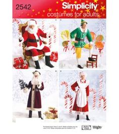 Misses and mens christmas holiday sewing patterns featuring santa claus, mrs. claus and santas elves. Visit the pattern department in store to browse our patterns available in store.