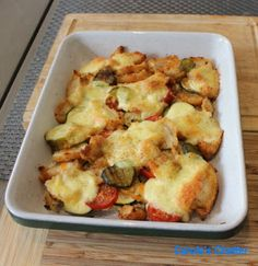 Carole's Chatter: Leftovers – Invention driven by necessity Slice Of Bread, Chicken Tenders, How To Cook Chicken, Cherry Tomatoes, Inventions, Spicy, Friday, Tasty, Stuffed Peppers