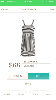 Like the fun stripes on this dress. Since I live in a warm climate year round, I could use this all the time.