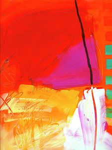 Abstract Painting - Event#9 by Jane Davies
