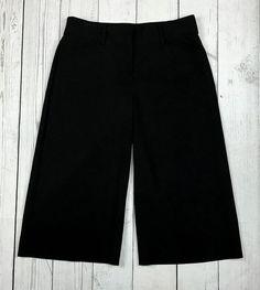 Express Design Studio womens 4 Editor black cropped capris career dress pants #ExpressDesignStudio #CaprisCropped
