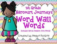 This product contains all the high frequency words for the grade series. The words outlined in green at the beginning are the Kindergarten Wor. First Grade Words, First Grade Reading, Journeys First Grade, Journeys Reading Series, Kindergarten Classroom, Classroom Decor, Too Cool For School, School Stuff, Teaching Reading