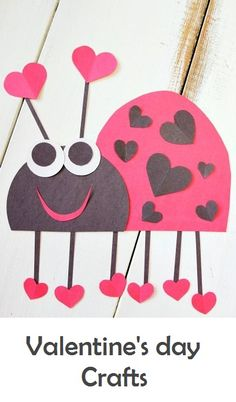 Adorable Valentine Craft for Kids ~ Heart Bug - It's a LOVE - noel Valentine's Day Crafts For Kids, Valentine Crafts For Kids, Daycare Crafts, Valentines Day Activities, Valentines Day Party, Toddler Crafts, Preschool Crafts, Holiday Crafts, Valentine Gifts