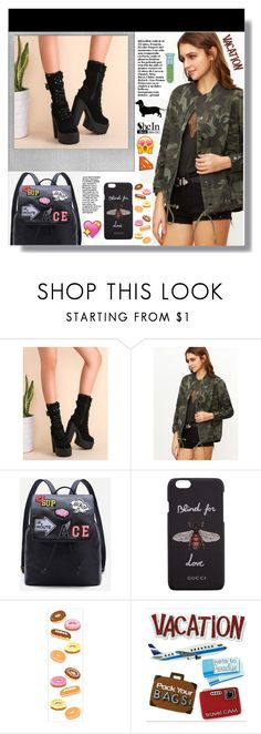 """""""Shein"""" by aminkicakloko ❤ liked on Polyvore featuring Polaroid and Gucci"""