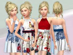 Designer Dresses Collection P12 Found in TSR Category 'sims 4 Female Child Everyday'