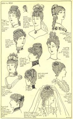 1890's hairstyles Not the prettiest, I could interpret something of it.