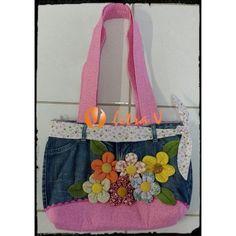 Bolsa de Patchwork Flores