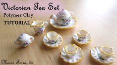 Victorian Tea Party Part 1: Tea Set / Crockery - Polymer Clay TUTORIAL