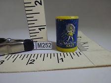 VTG MORTON SALT MINIATURE SALT SHAKER BLUE & WHT LABEL YELLOW BOX FIGURINES M252
