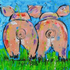 Chicken Painting, Painting On Wood, Painting & Drawing, Arte Pop, Pig Art, Pictures To Paint, Paint And Sip, Animal Paintings, Art Lessons