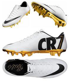 Los botines que #Nike lanzará para homenajear a Cristiano Ronaldo por su balón de oro. #HalaMadrid Real Madrid.