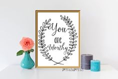 Printable QuoteInspirational quoteYou are by PrintsyPrints on Etsy