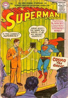 Superman 103. The Man Who Could Read Superman's Mind (February, 1956)