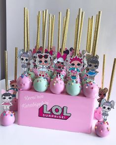 First Birthday Party Themes, Birthday Party Decorations, 5th Birthday, Lol Doll Cake, Candy Bar Party, Kid Cupcakes, Little Pony Party, Doll Party, Lol Dolls