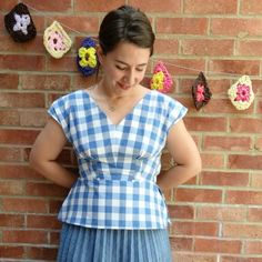 Learn how to refashion a man's shirt into this vintage inspired top