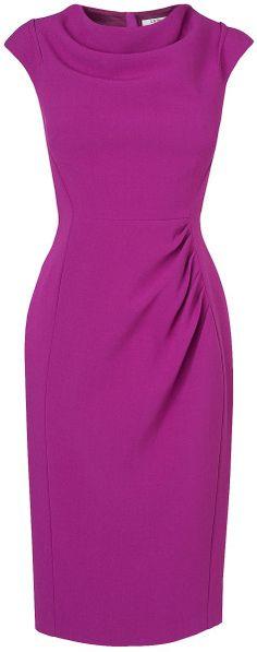 L.k.bennett Lila Fitted Dress in Purple