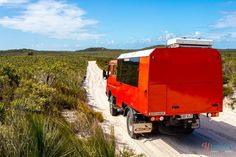 4x4 driving on Moreton Island, Queensland, Australia