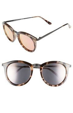 Free shipping and returns on Le Specs  No Smirking  50mm Round Sunglasses  at Nordstrom 2c7558739152