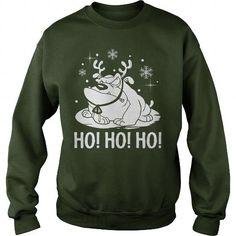 Bulldog Ho Ho Ho 3 Funny Christmas Shirt Sweater
