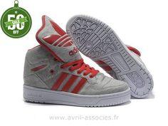Adidas 2016 - Homme et Femme chaussures Adidas Originals Metro Attitude Fashion W - gris moyen cramoisi rouge (Adidas Pas Cher Femme)