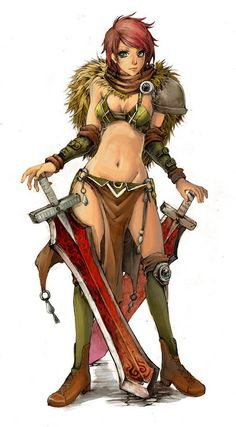 Tyra - color version by KenshjnPark on DeviantArt Character Poses, Comic Character, Character Concept, Concept Art, Character Design, Character Reference, Game Character, Warrior Girl, Fantasy Warrior
